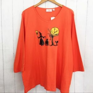 Quacker Factory Halloween Witch Sweater